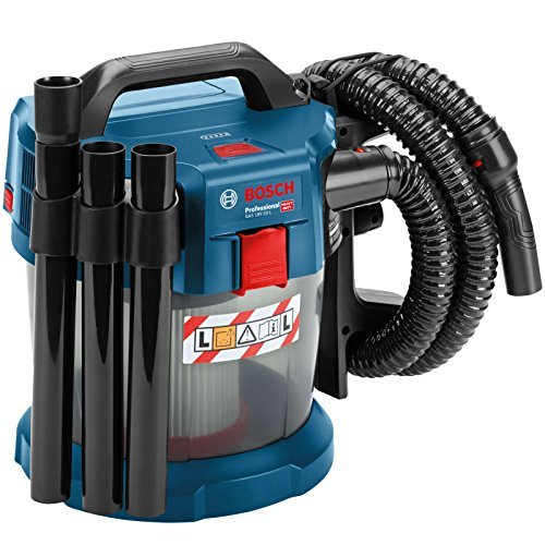 51XTrmk +ML - Bosch Professional 06019C6300 Professional Akku Nass und Trockensauger Gas, Bogenrohr, 3x Verlängerungsrohr, Fugendüse, Bodendüse, HEPA-Filter, 18 V, 10 L, 1,6 m Schlauchlänge